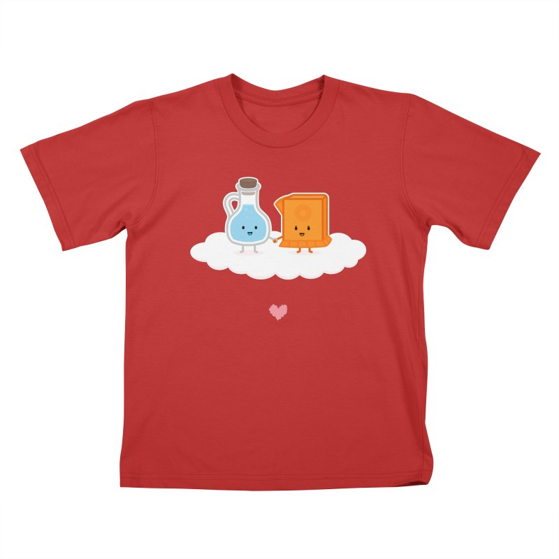 Love, Vinegar, and Baking Soda Kids T-Shirt by MykoWu's Artist Shop