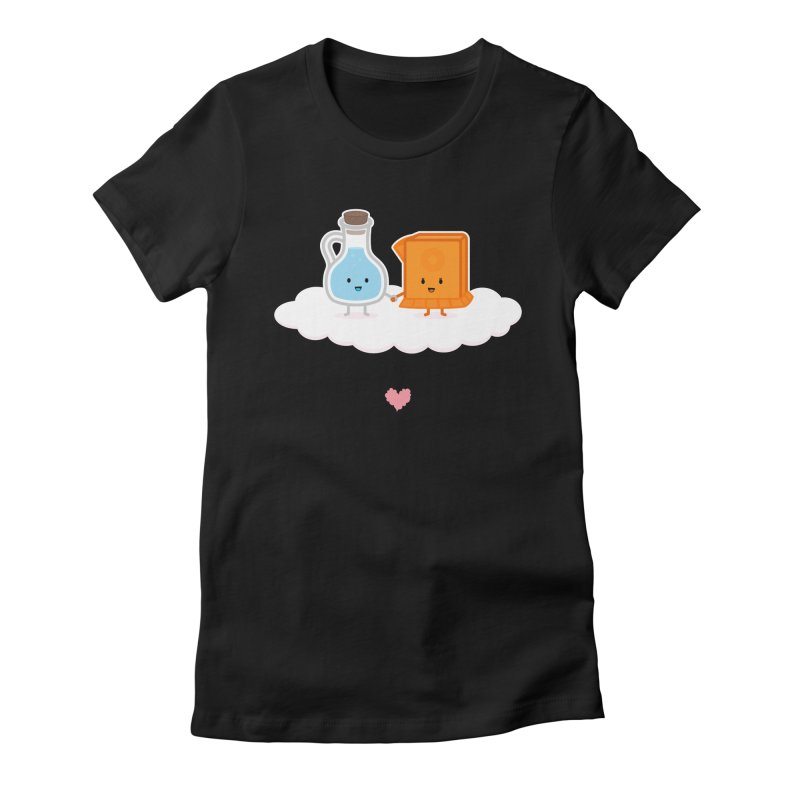 Love, Vinegar, and Baking Soda Women's Fitted T-Shirt by MykoWu's Artist Shop