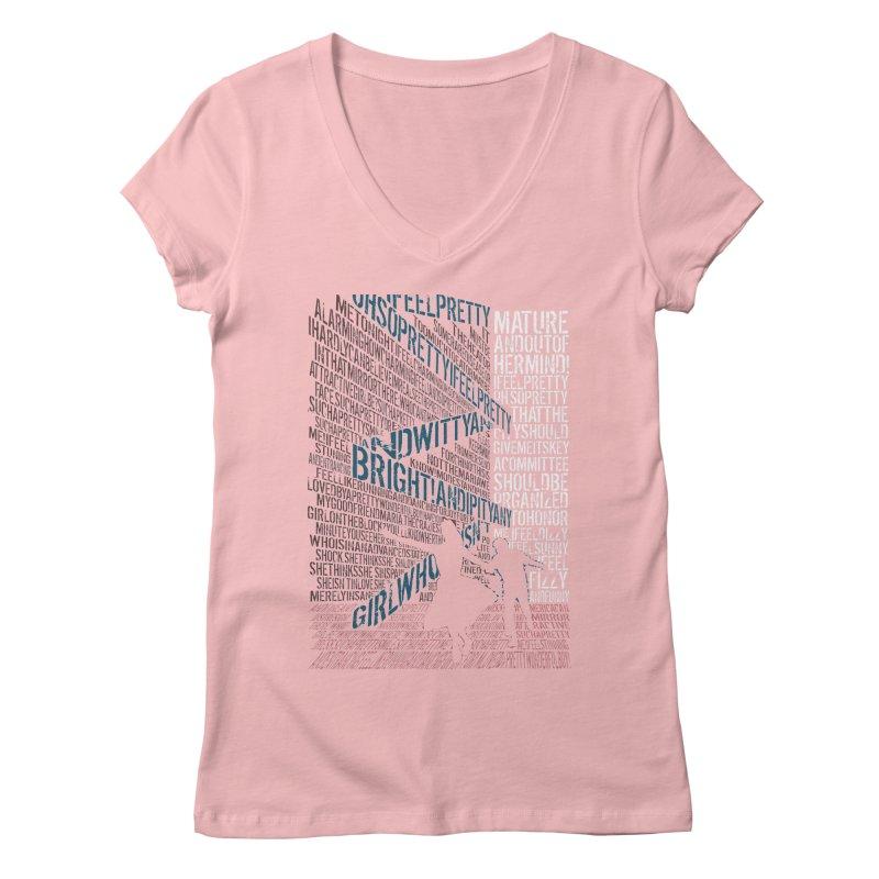 I feel pretty Women's V-Neck by mymadtshirt's Artist Shop