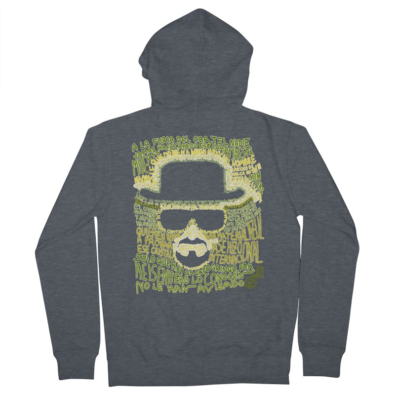 Narcocorrido Heisenberg Men's Zip-Up Hoody by mymadtshirt's Artist Shop