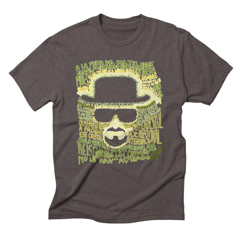 Narcocorrido Heisenberg Men's Triblend T-shirt by mymadtshirt's Artist Shop