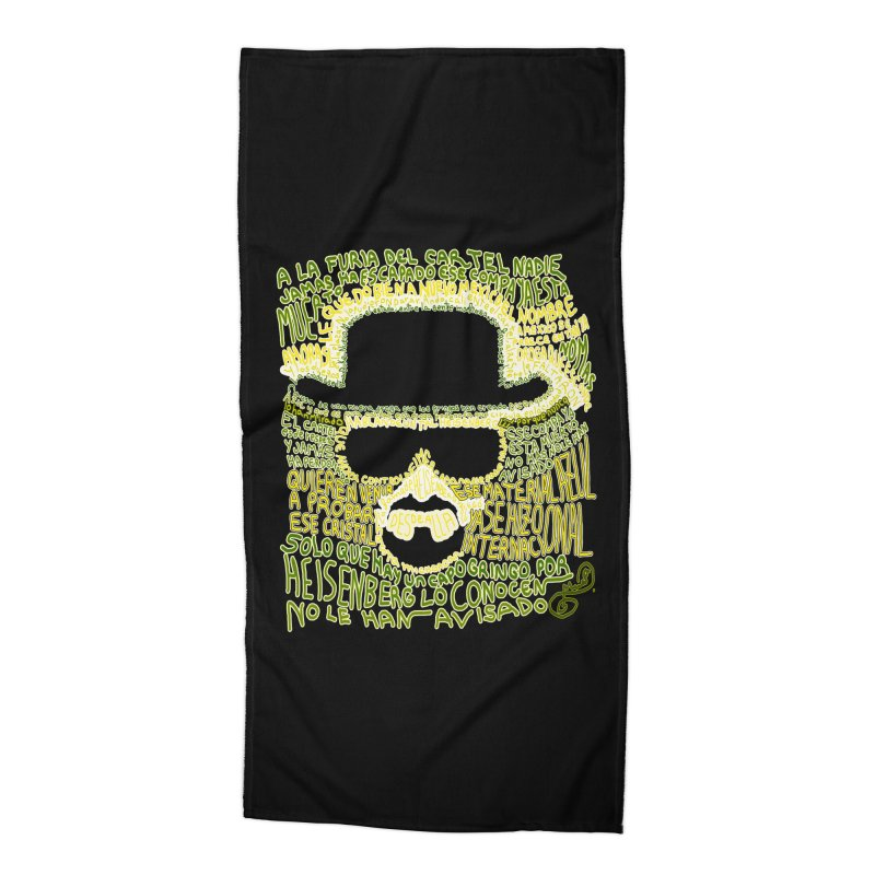 Narcocorrido Heisenberg Accessories Beach Towel by mymadtshirt's Artist Shop