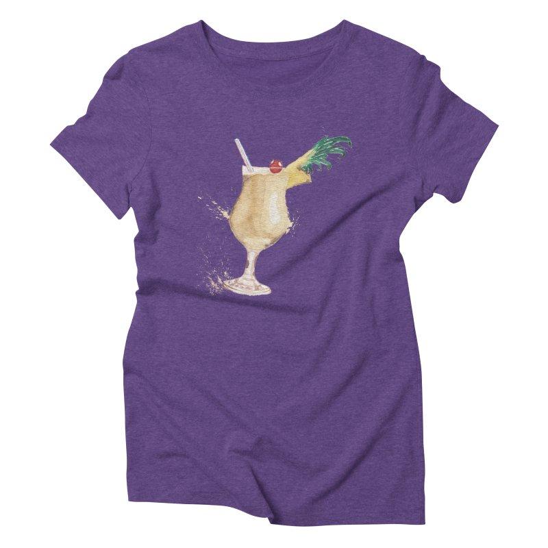 Piña Colada Women's Triblend T-shirt by mymadtshirt's Artist Shop
