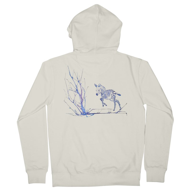 Zebra Men's Zip-Up Hoody by mymadtshirt's Artist Shop