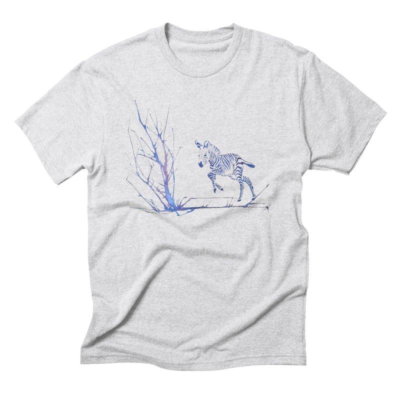 Zebra Men's Triblend T-Shirt by mymadtshirt's Artist Shop