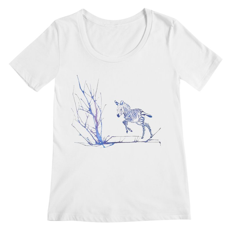 Zebra Women's Scoopneck by mymadtshirt's Artist Shop