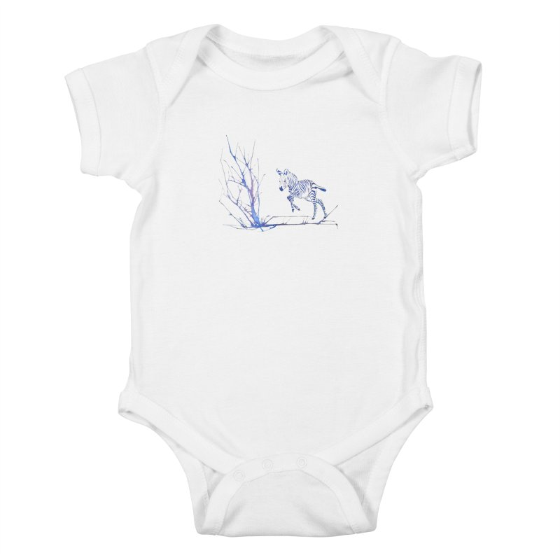 Zebra Kids Baby Bodysuit by mymadtshirt's Artist Shop