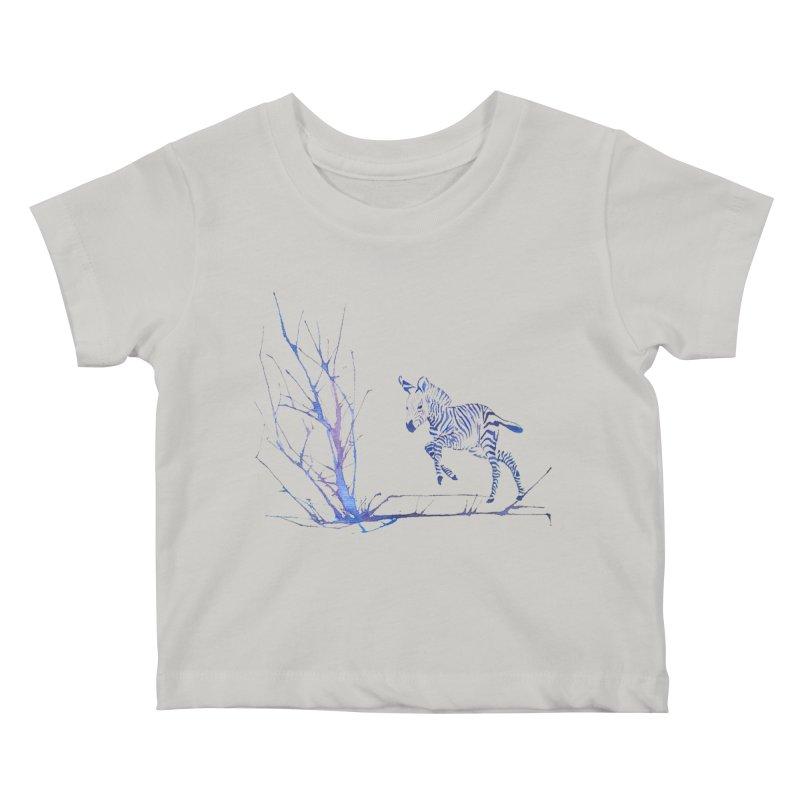 Zebra Kids Baby T-Shirt by mymadtshirt's Artist Shop