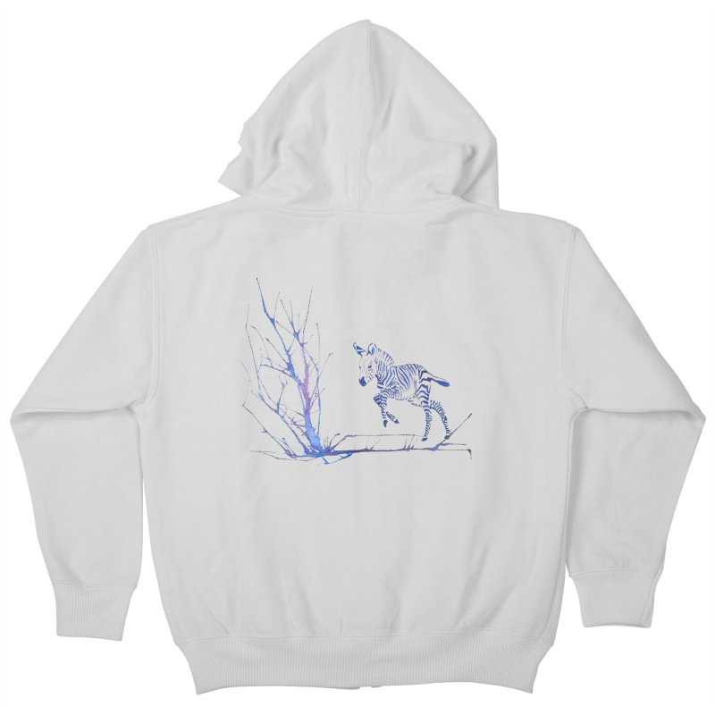 Zebra Kids Zip-Up Hoody by mymadtshirt's Artist Shop