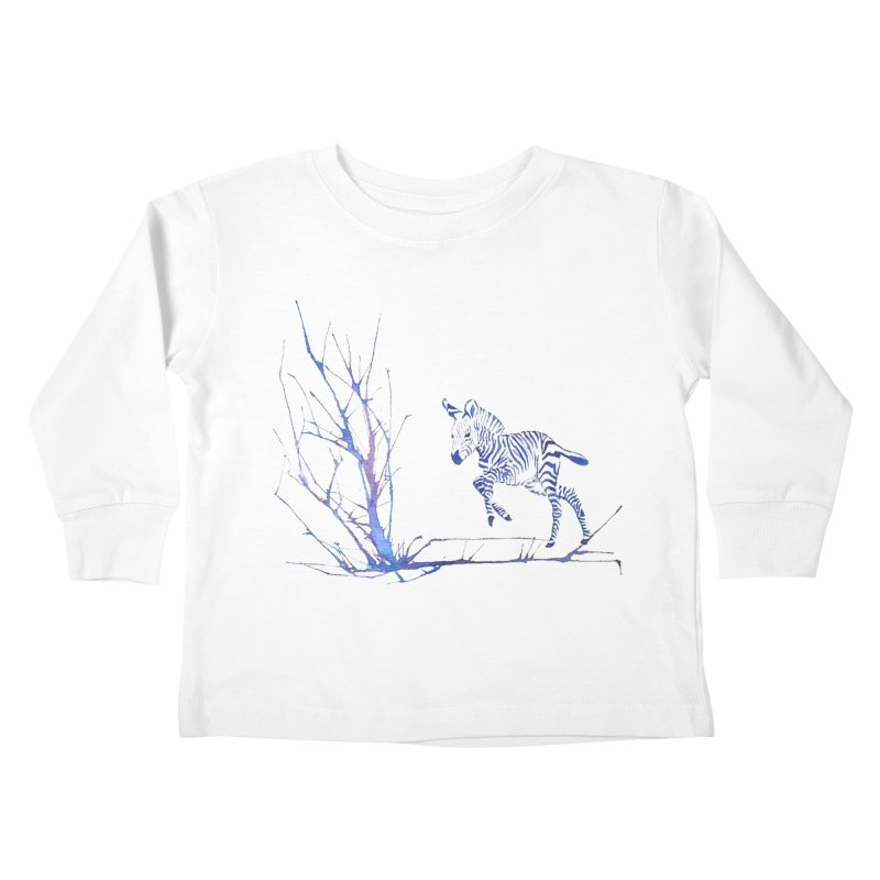 Zebra Kids Toddler Longsleeve T-Shirt by mymadtshirt's Artist Shop