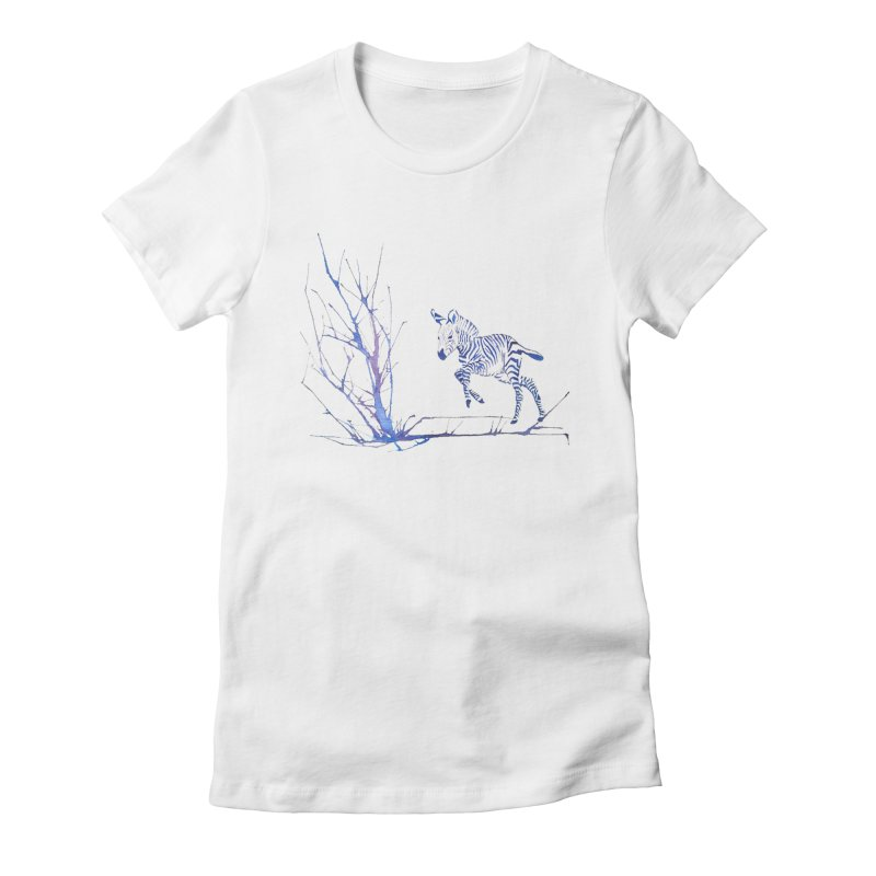 Zebra Women's Fitted T-Shirt by mymadtshirt's Artist Shop