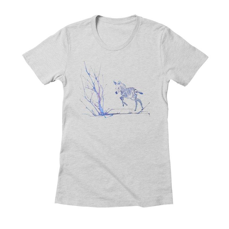 Zebra Women's Fitted T-Shirt by mymadtshirt's Artist Shop