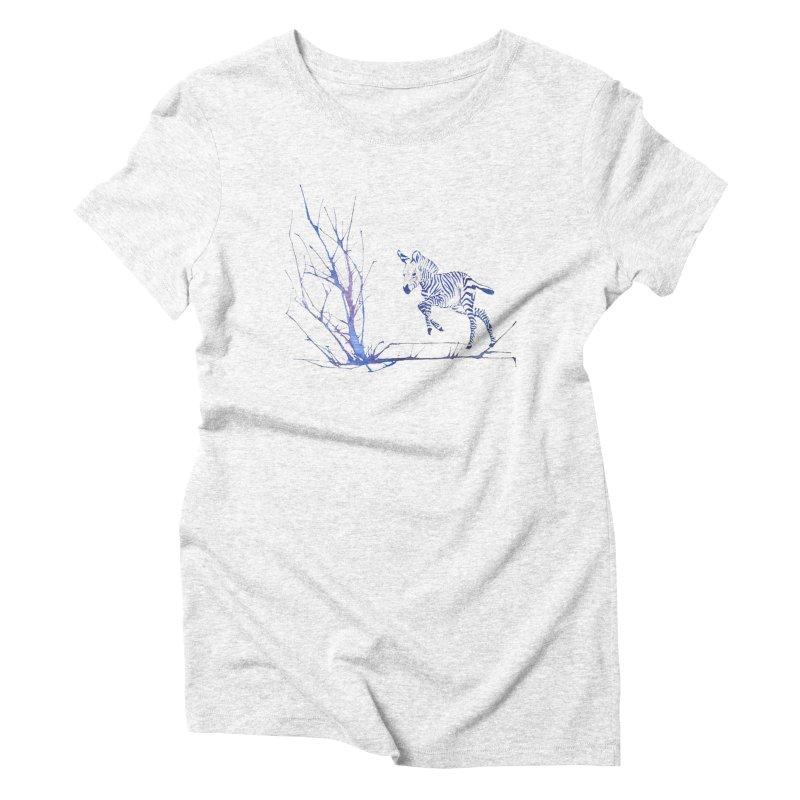 Zebra Women's Triblend T-shirt by mymadtshirt's Artist Shop