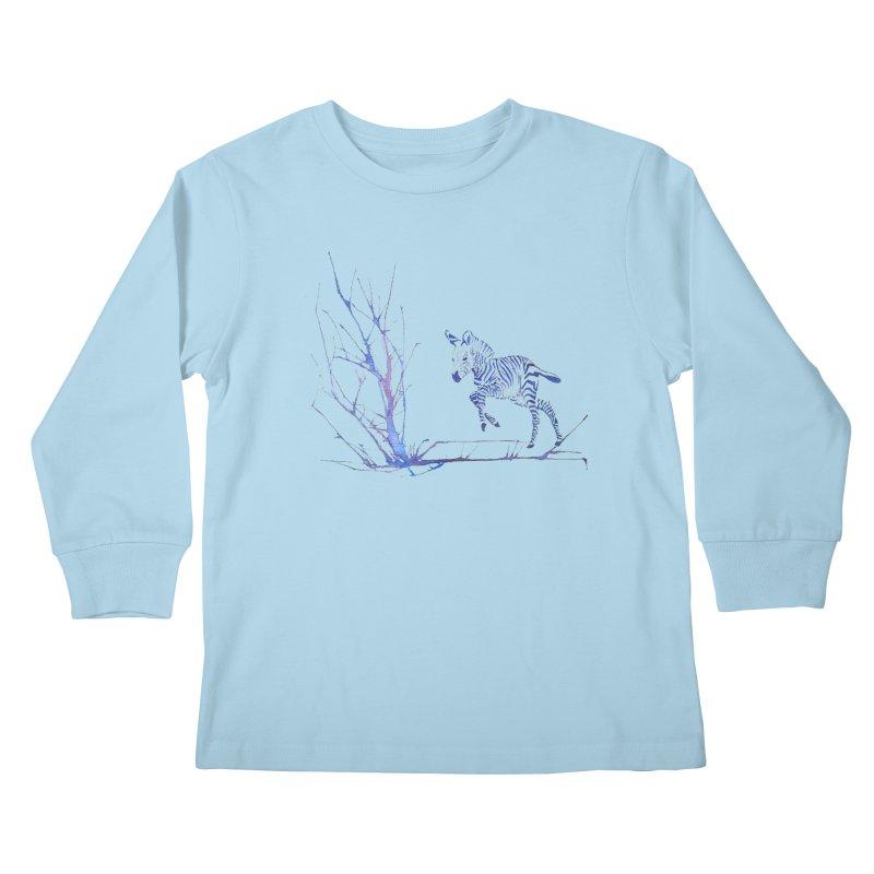 Zebra Kids Longsleeve T-Shirt by mymadtshirt's Artist Shop