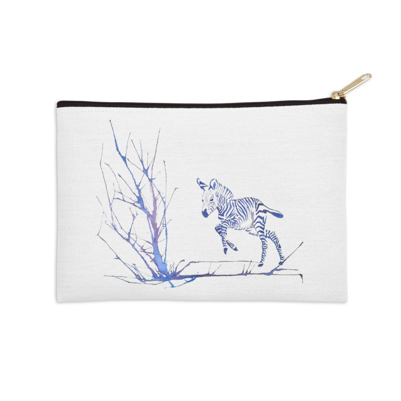 Zebra Accessories Zip Pouch by mymadtshirt's Artist Shop