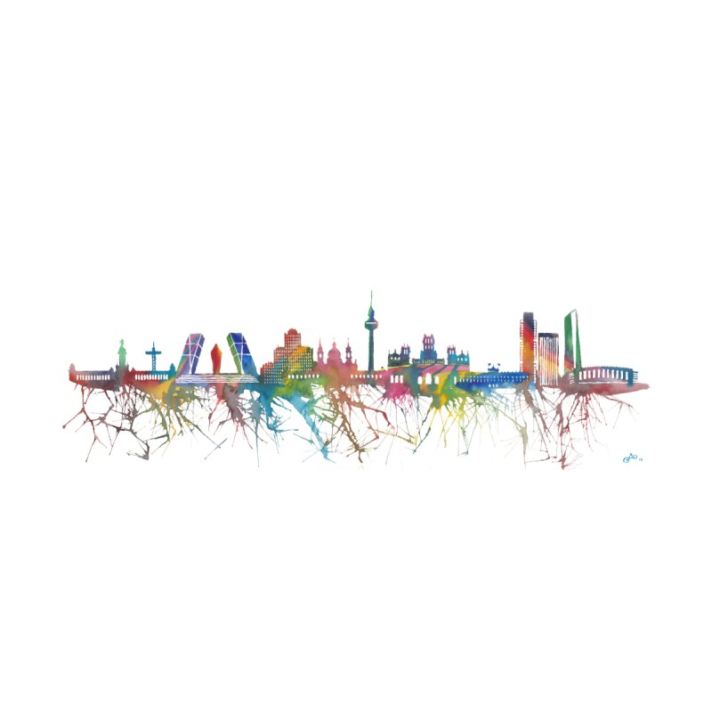 Madrid skyline by mymadtshirt's Artist Shop