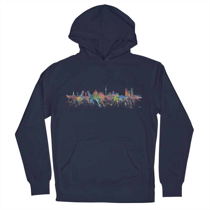 Madrid skyline Women's Pullover Hoody by mymadtshirt's Artist Shop
