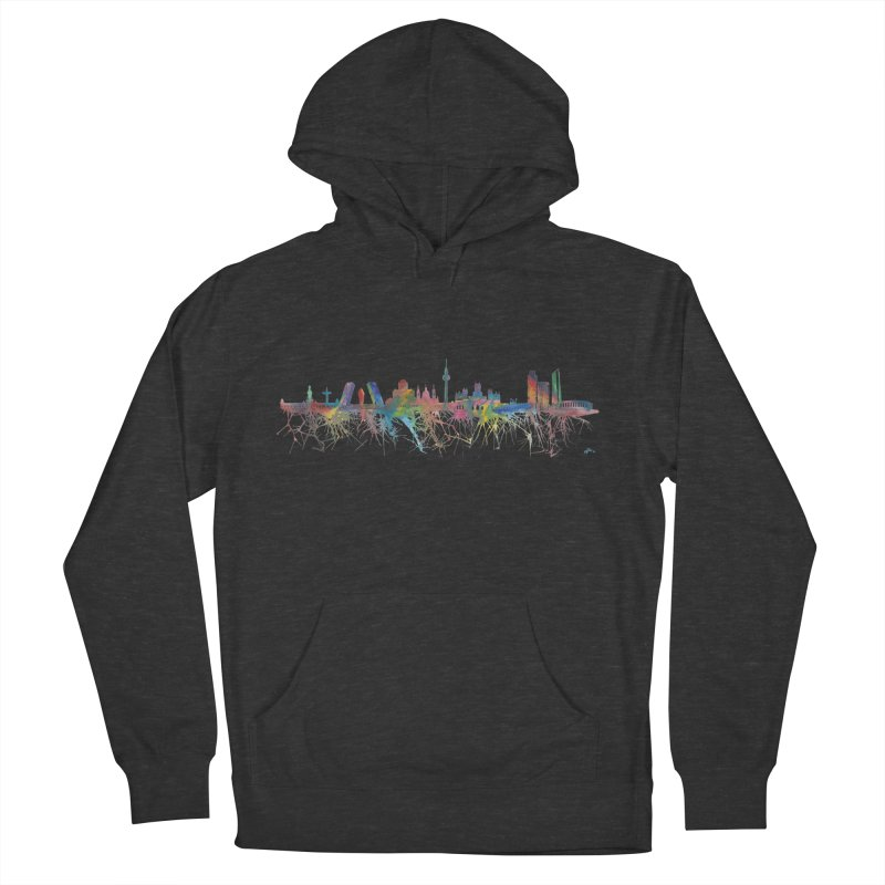 Madrid skyline Men's Pullover Hoody by mymadtshirt's Artist Shop