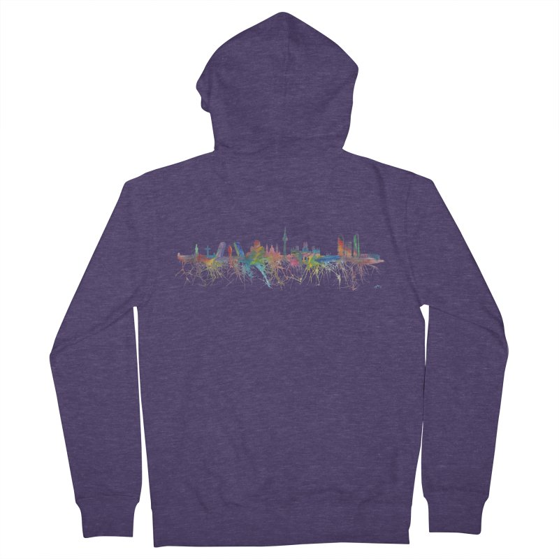 Madrid skyline Men's Zip-Up Hoody by mymadtshirt's Artist Shop