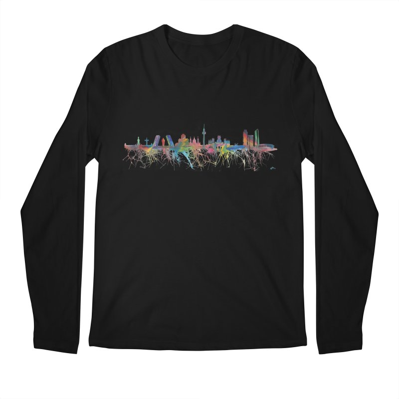 Madrid skyline Men's Longsleeve T-Shirt by mymadtshirt's Artist Shop