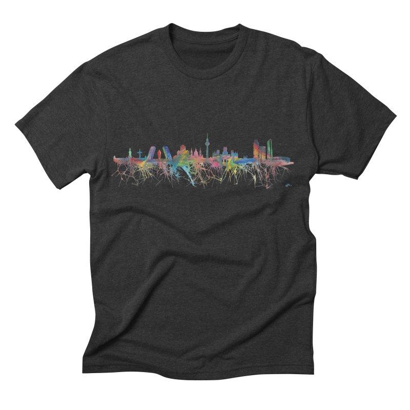 Madrid skyline Men's Triblend T-shirt by mymadtshirt's Artist Shop