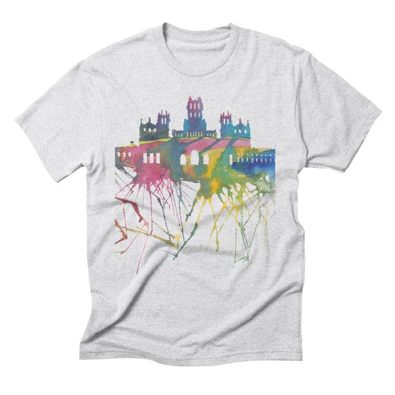 Palacio Cibeles Men's Triblend T-Shirt by mymadtshirt's Artist Shop