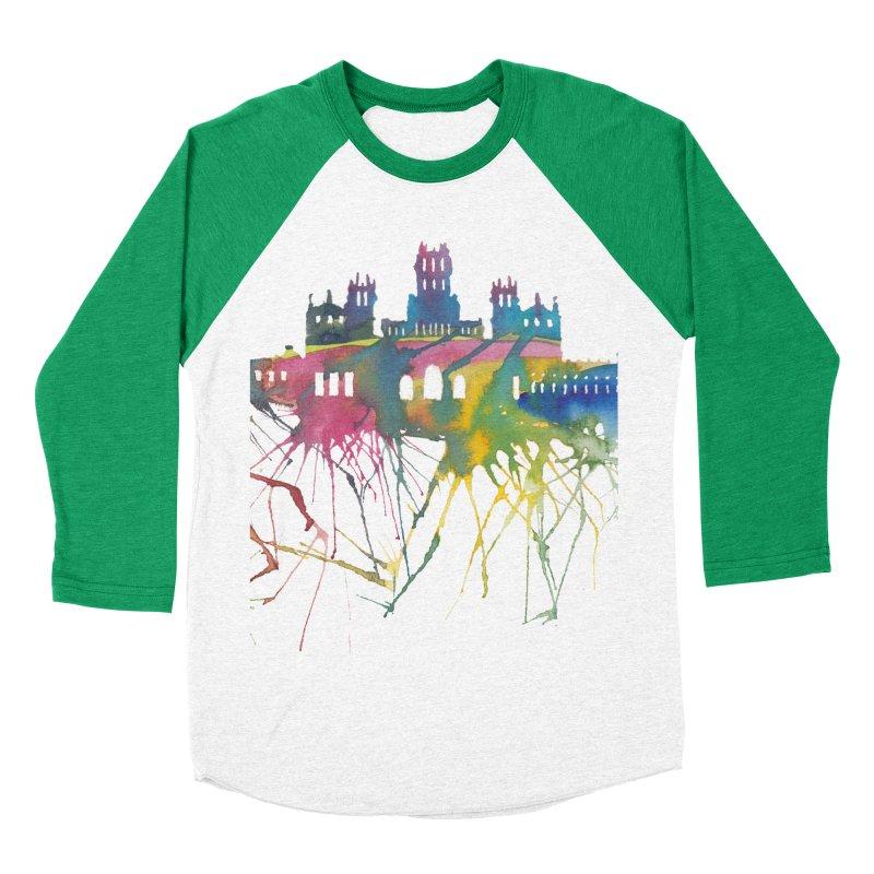 Palacio Cibeles Women's Baseball Triblend T-Shirt by mymadtshirt's Artist Shop