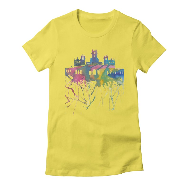 Palacio Cibeles Women's Fitted T-Shirt by mymadtshirt's Artist Shop