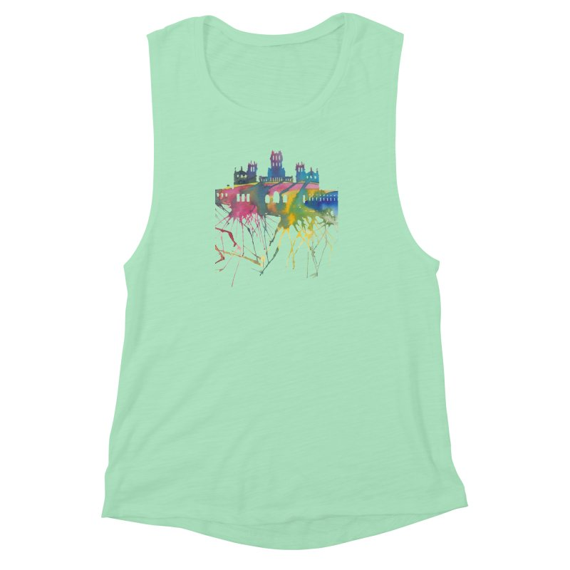 Palacio Cibeles Women's Muscle Tank by mymadtshirt's Artist Shop