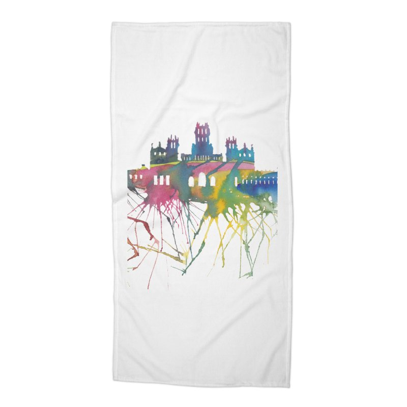 Palacio Cibeles Accessories Beach Towel by mymadtshirt's Artist Shop