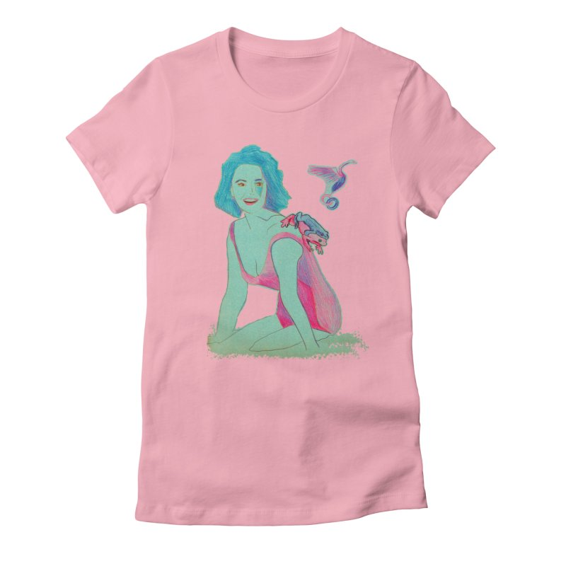 Liz y los sapos Women's Fitted T-Shirt by mymadtshirt's Artist Shop