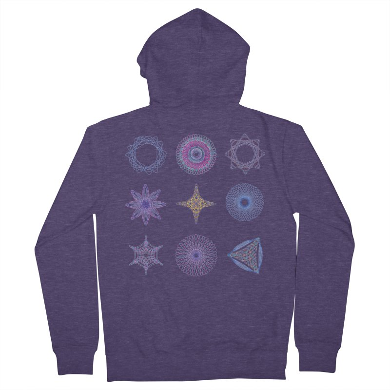 Spirograph Men's Zip-Up Hoody by mymadtshirt's Artist Shop