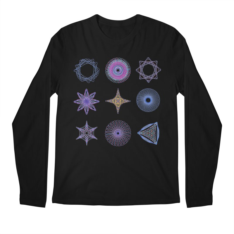 Spirograph in Men's Longsleeve T-Shirt Black by mymadtshirt's Artist Shop