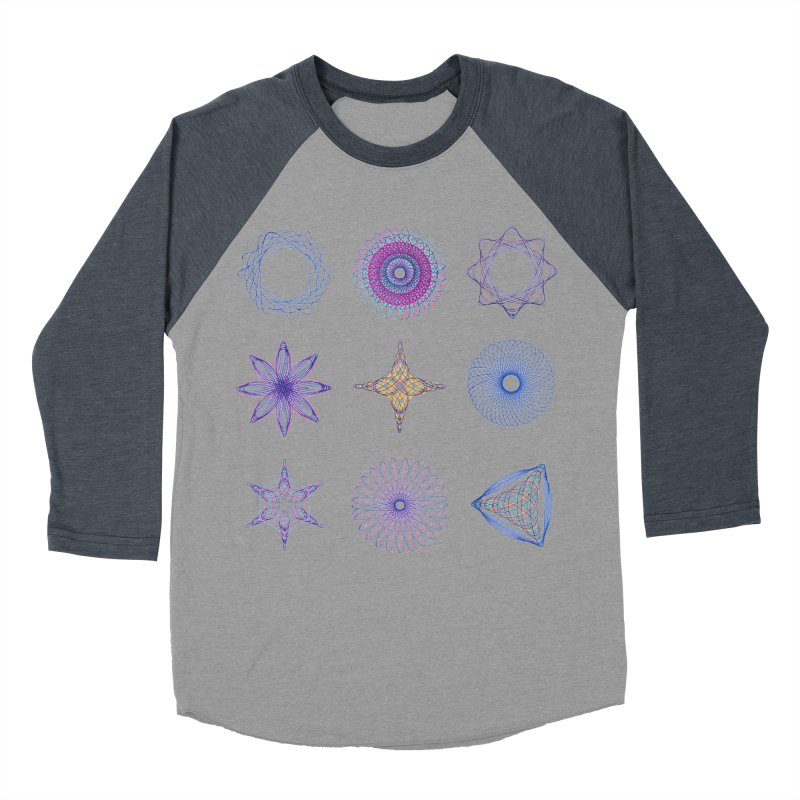 Spirograph Men's Baseball Triblend T-Shirt by mymadtshirt's Artist Shop