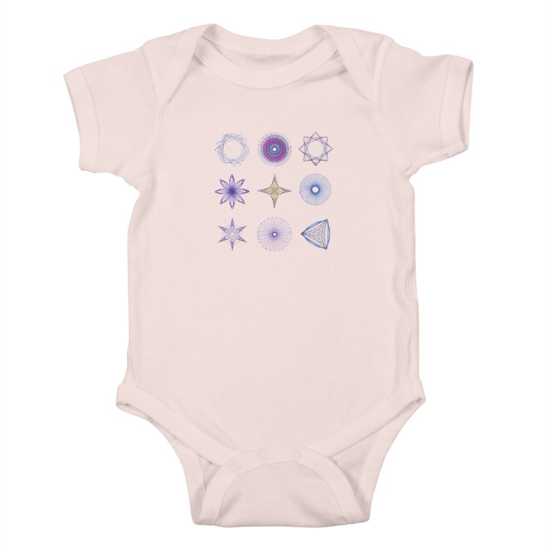 Spirograph Kids Baby Bodysuit by mymadtshirt's Artist Shop