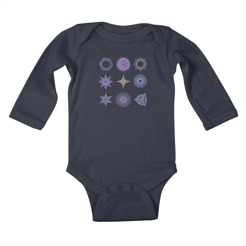 Spirograph Kids Baby Longsleeve Bodysuit by mymadtshirt's Artist Shop