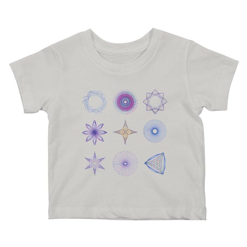 Spirograph Kids Baby T-Shirt by mymadtshirt's Artist Shop