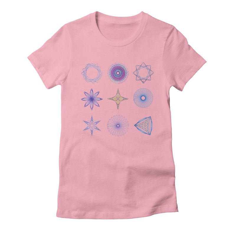 Spirograph Women's Fitted T-Shirt by mymadtshirt's Artist Shop