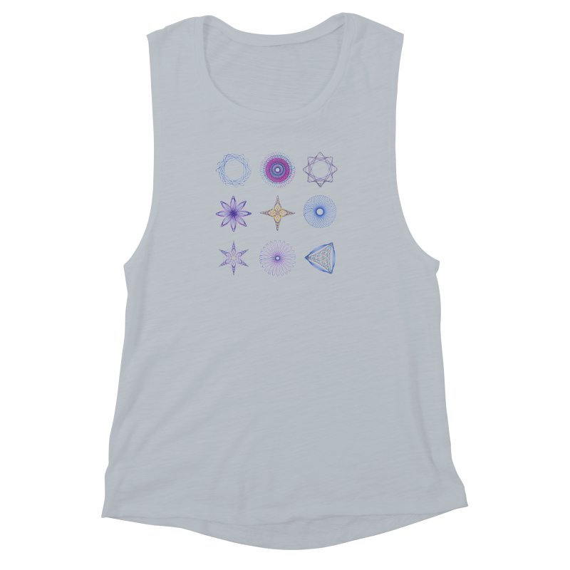 Spirograph Women's Muscle Tank by mymadtshirt's Artist Shop