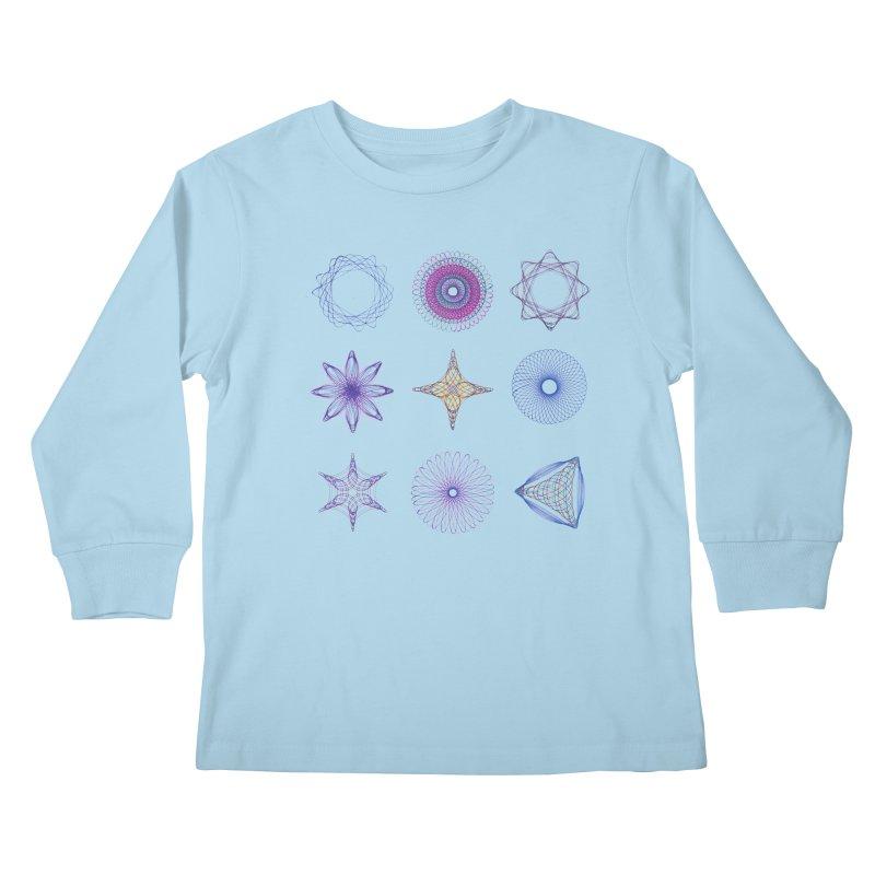 Spirograph Kids Longsleeve T-Shirt by mymadtshirt's Artist Shop