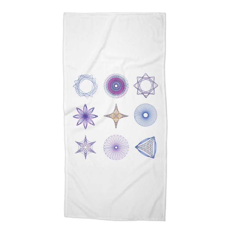 Spirograph Accessories Beach Towel by mymadtshirt's Artist Shop