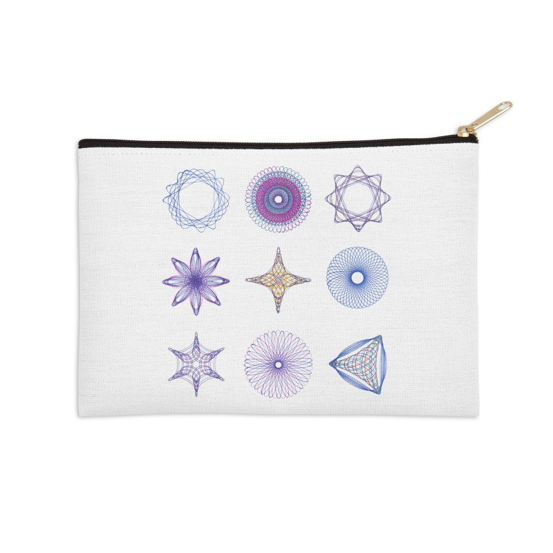 Spirograph Accessories Zip Pouch by mymadtshirt's Artist Shop