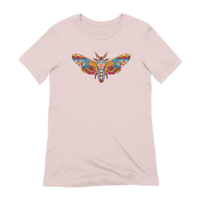 Clown Moth Women's Extra Soft T-Shirt by My Metal Hand Artist Shop