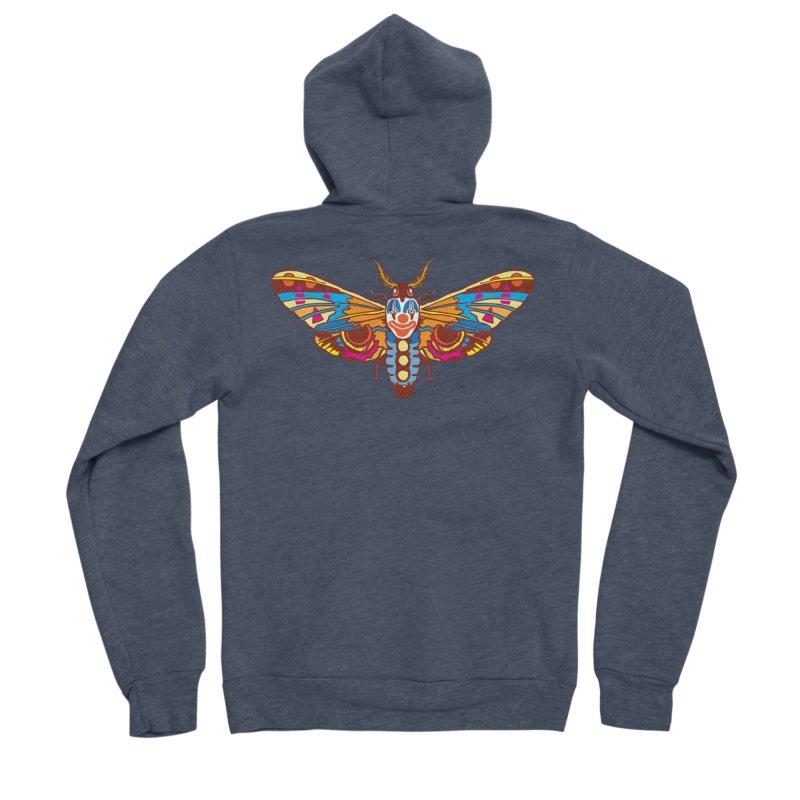 Clown Moth Men's Sponge Fleece Zip-Up Hoody by My Metal Hand Artist Shop