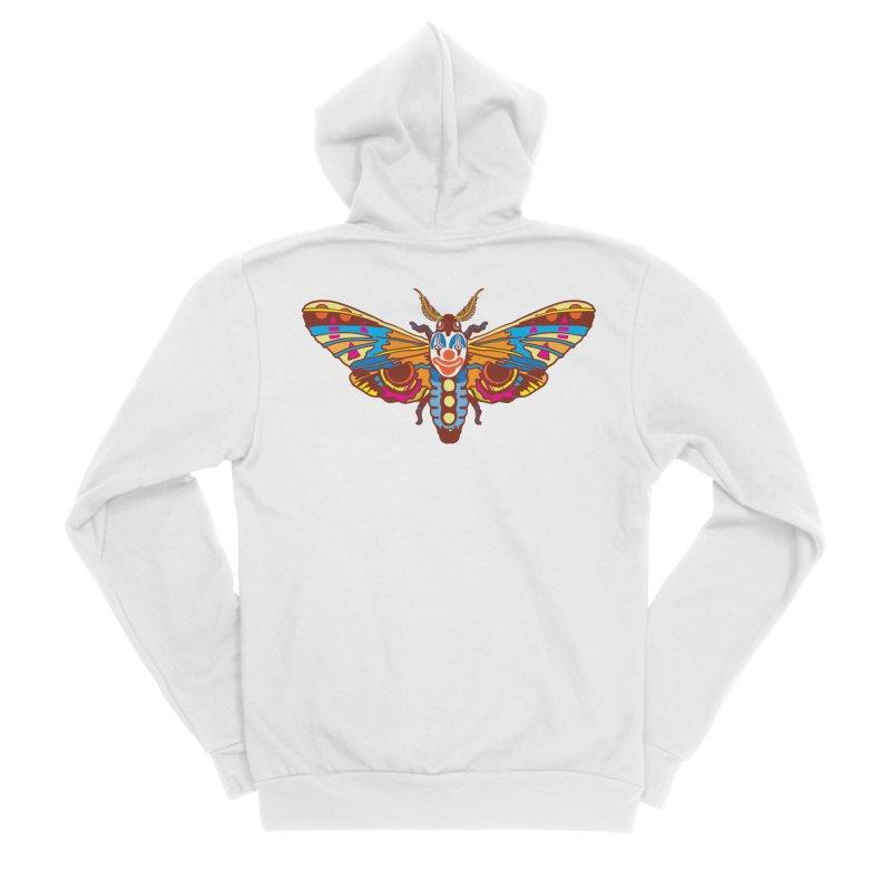 Clown Moth Women's Sponge Fleece Zip-Up Hoody by My Metal Hand Artist Shop