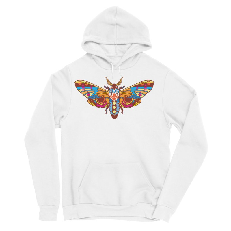 Clown Moth Men's Sponge Fleece Pullover Hoody by My Metal Hand Artist Shop