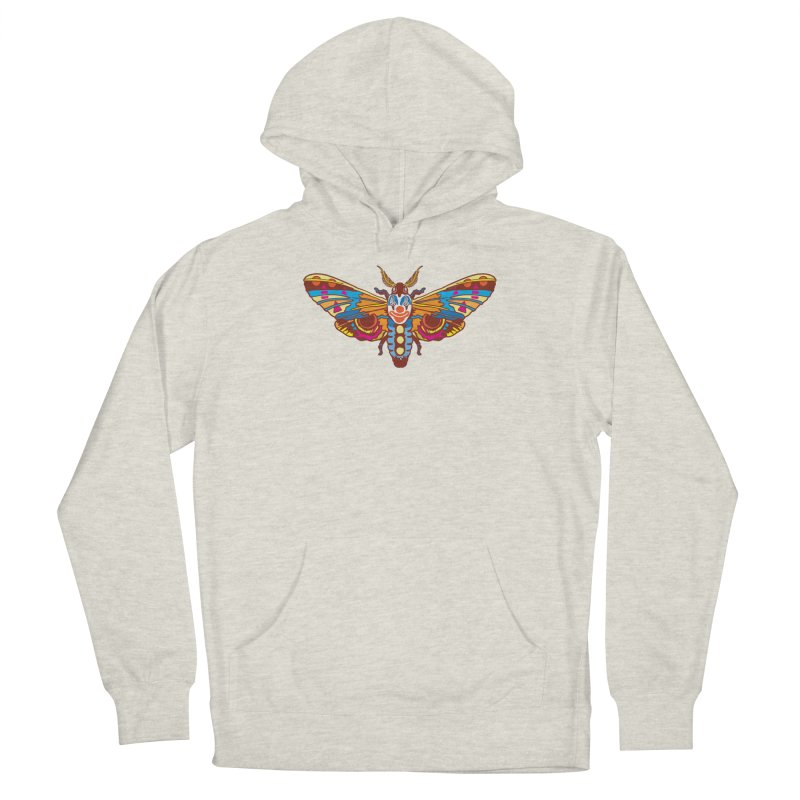 Clown Moth Women's French Terry Pullover Hoody by My Metal Hand Artist Shop