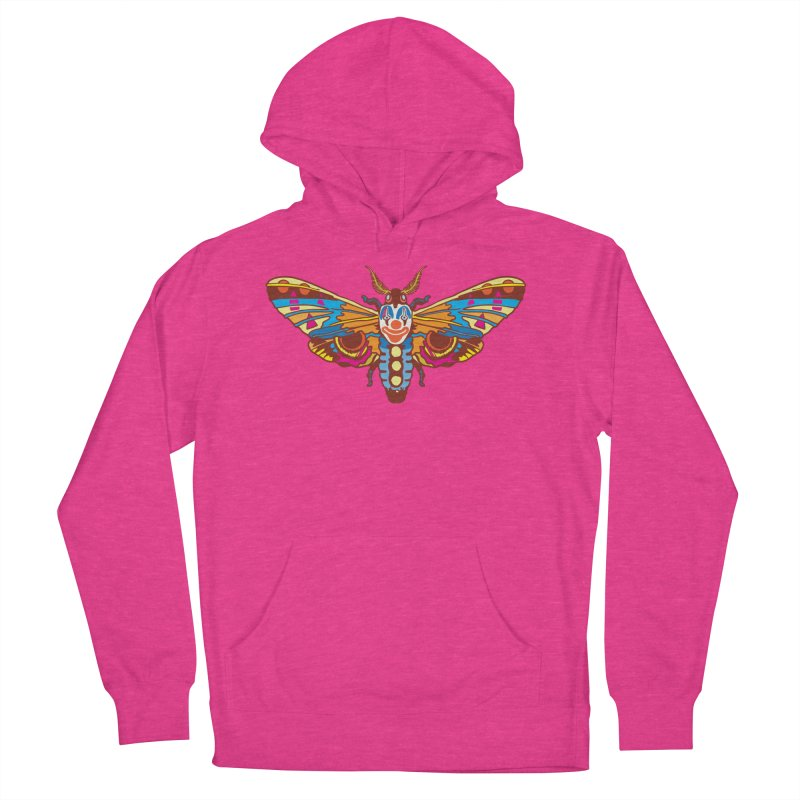 Clown Moth Men's French Terry Pullover Hoody by My Metal Hand Artist Shop
