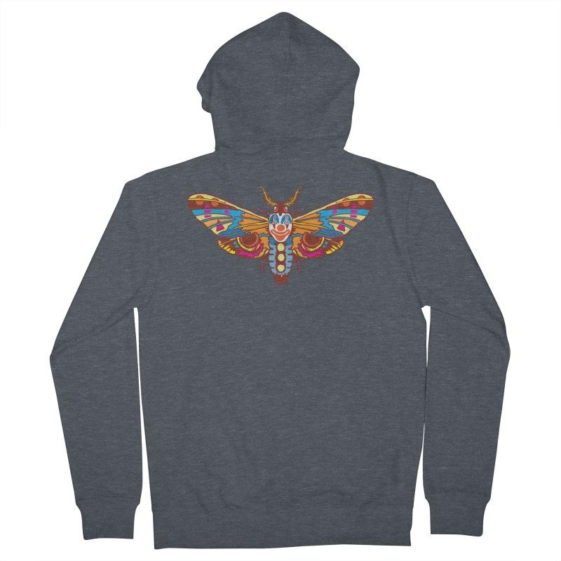 Clown Moth Men's French Terry Zip-Up Hoody by My Metal Hand Artist Shop