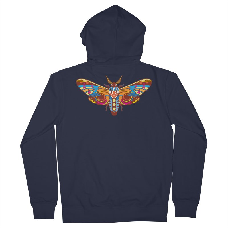 Clown Moth Men's French Terry Zip-Up Hoody by My Metal Hand Artist Shop